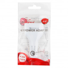 Адаптер питания Cablexpert <MP3A-UC-CAR18> автоприкуриватель - USB 12V->5V 4-USB, поддержка quick ch