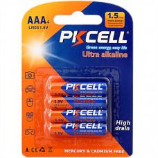 Батарейка AAA PKCELL LR03-4B 4 шт Alkaline в блистере