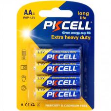 Батарейка AA PKCELL R6P-4B 4 шт в блистере