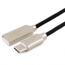 Кабель USB 2.0 A-->C,  0.5м Cablexpert <CC-P-USBC02Bk-0.5M>, серия Platinum, черный
