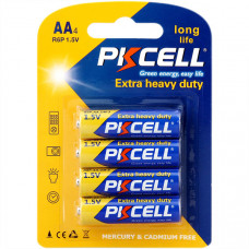 Батарейка AA PKCELL R6P-4S 4 шт пленка