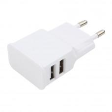 Адаптер питания 220 В - USB Cablexpert <MP3A-PC-11> USB 2 порта, 2.1A, белый