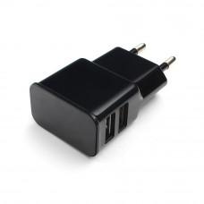 Адаптер питания 220 В - USB Cablexpert <MP3A-PC-12> USB 2 порта, 2.1A, черный