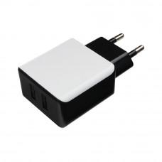 Адаптер питания 220 В - USB Cablexpert <MP3A-PC-14> USB 2 порта, 2.1A