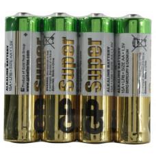 Батарейка AA GP Super 15ARS (LR6) alkaline  спайка 4 шт.