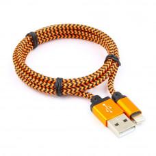 Кабель USB 2.0 A(m) --> Lightning  1м Cablexpert <CC-ApUSB2oe1m> оранжевый (ОПЛЕТКА)