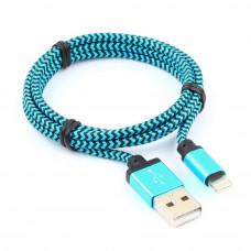 Кабель USB 2.0 A(m) --> Lightning  1м Cablexpert <CC-ApUSB2bl1m> синий (ОПЛЕТКА)