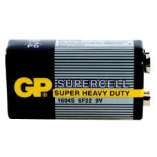 "Батарейка 6F22 (""Крона"")  GP Supercell 1604S"