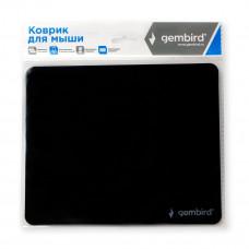 Коврик для мышки GEMBIRD MP-BASIC, чёрный, размеры 220*180*0,5мм, ультратонкий,100% пластик