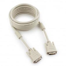 Кабель DVI single link 5м <CC-DVI-15> Cablexpert экран, феррит.кольца