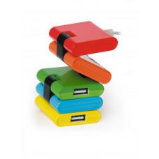 """Концентратор USB 2.0 4 порта Konoos <UK-06> """"Конструктор"""""""