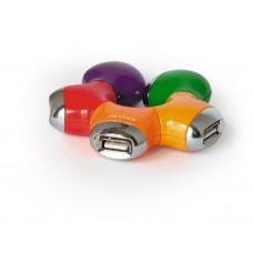 """Концентратор USB 2.0 4 порта Konoos <UK-07> """"Цветок"""""""