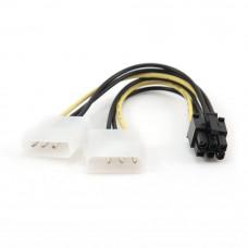 Разветвитель питания Molex*2 --> 1xPCI express (для в/карт 6pin) Cablexpert CC-PSU-6