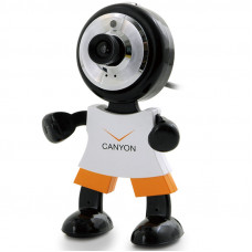 "Камера CANYON CNR-WCAM113 (1.3Mpixel, 1/4"" CMOS, USB 2.0), Black/Orange/White"