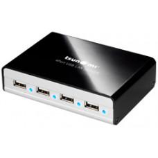 Сервер USB Tsunami UW 403, USB2.0 x4, RJ45x1, поддержка DHCP,TCP/IP,UPnP,Bonjour, Al, черный