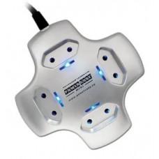 Настольный удлинитель Power Cube mini, 1.8 м. 4 розетки,серебро