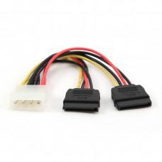 Разветвитель питания Molex --> SATA + SATA 30см Cablexpert CC-SATA-PSY-0.3M