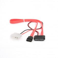Разветвитель питания Molex --> miniSATA + SATA интерфейсный 50см <CC-SATA-C3>
