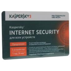 ПО Антивирус Касперского Internet Security Multi-Device Russian Ed. 3-Device 1year, Reneval Card KL1