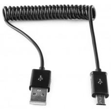 Кабель USB 2.0 A-->microB 5P  1м <Gembird/Cablexpert> <CC-mUSB2C-AMBM-1M> спиральный