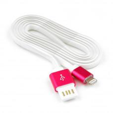 Кабель USB 2.0 A(m) --> Lightning  1м Cablexpert <CC-ApUSBr1m> розовый металлик (СЕЛИКОН)