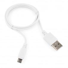 Кабель USB 2.0 A-->microB 5P  1м Cablexpert <CC-mUSB2-AMBM-1MW> белый
