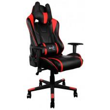 Кресло игровое Aerocool AC220 AIR-BR , черно-красное, с перфорацией, до 150 кг