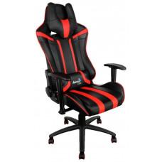 Кресло игровое Aerocool AC120 AIR-BR , черно-красное, с перфорацией, до 150 кг