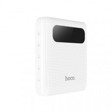 Мобильный аккумулятор Hoco B20-10000, 10000мА/ч,USB, 2.1A, белый