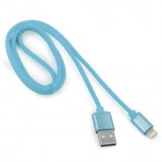 Кабель USB 2.0 A(m) --> Lightning  1м Cablexpert <CC-S-APUSB01Bl-1M> серия Silver, синий