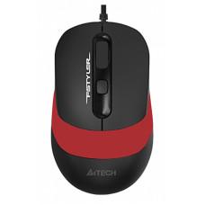 Мышь A4 Fstyler FM10 черный/красный оптическая (1600dpi) USB (4but)