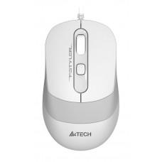 Мышь A4 Fstyler FM10 белый/серый оптическая (1600dpi) USB (4but)