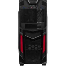 Корпус Accord R-03B черный/красный без БП ATX 1x120mm 2xUSB2.0 2xUSB3.0 audio bott PSU