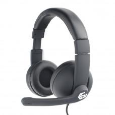 """Гарнитура Gembird MHS-G220, код """"Printbar"""", черный, soft touch"""