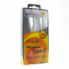 Кабель USB 2.0 A-->C,  1м Cablexpert <CC-G-USBC01Gd-1M>, серия Gold, золотой