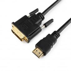 Кабель HDMI ==> DVI (19M/19M) 10м <Gembird/Cablexpert> CC-HDMI-DVI-10MC