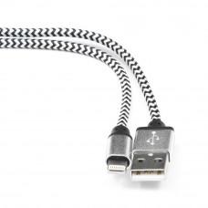 Кабель USB 2.0 A(m) --> Lightning  1м Cablexpert <CC-ApUSB2sr1m> серебристый (ОПЛЕТКА)