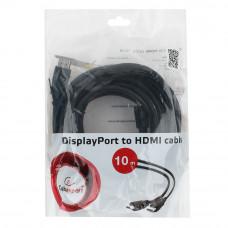 Кабель Display Port ==> HDMI 10м Cablexpert <CC-DP-HDMI-10M>