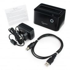 """Docking Station  Gembird <HD32-U2S-4> <Black>, 2.5""""&3.5"""" HDD SATA USB2.0"""