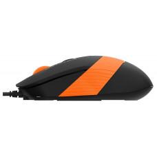 Мышь A4 Fstyler FM10 черный/оранжевый оптическая (1600dpi) USB (4but)