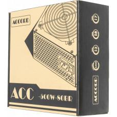 Блок питания ATX  500W Accord ACC-500W-80BR 80+ bronze (24+4+4pin) 120mm fan 6xSATA
