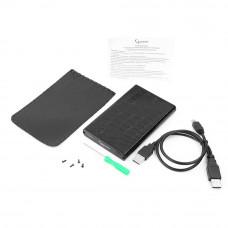 "Flexi-Drive EXT Gembird  SATA USB2.0, 2.5"" <EE2-U2S-70L> черный, металл+кожзам"