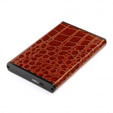 "Flexi-Drive EXT Gembird  SATA USB2.0, 2.5"" <EE2-U2S-70L-BR> коричневый, металл+кожзам"
