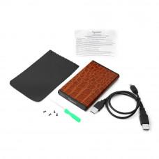 "Flexi-Drive EXT Gembird  SATA USB3.0, 2.5"" <EE2-U3S-70L-BR> коричневый, металл+кожзам"