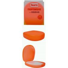 Портмоне для 24 CD/DVD Buro <BU-H3-28o>, оранжевый пластик