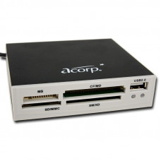 "Card Reader Int.3.5"" <ivory> Acorp CRIP200W USB2.0 (all-in-1, + USB port)"