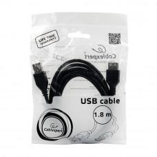 Кабель USB 2.0 удлинитель A,  1.8м проф. Cablexpert  <CCP-USB2-AMAF-6>