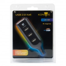 "Концентратор USB 2.0 4 порта Konoos <UK-02> ""Фрегат"""