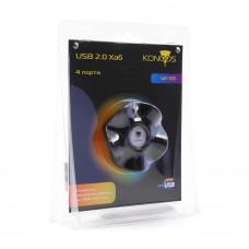 "Концентратор USB 2.0 4 порта Konoos <UK-03> ""Волна"""