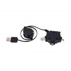 Кабель-рулетка Gembird USB2.0 AM/miniB 5P/miniB 8p/miniB 4p, (A-USB4TO1), 90 cм